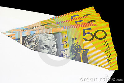 Closeup of Australian currency