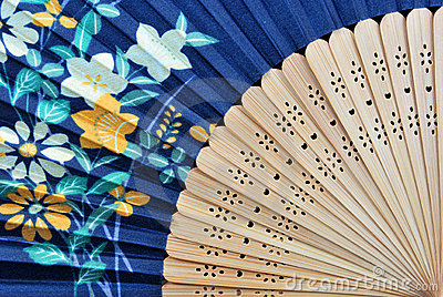 Closeup of an authentic fan