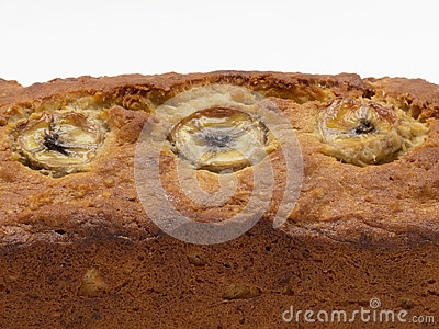 Closeup av bananbröd