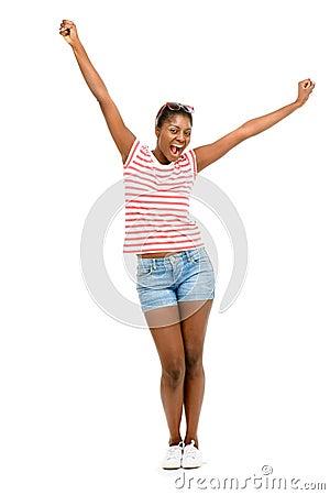 Free Closeup Beautiful African American Fashion Model White Backgroun Royalty Free Stock Photography - 31027907
