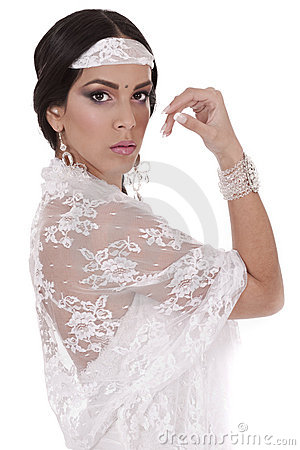 Closeup of a beautiful Indian bride