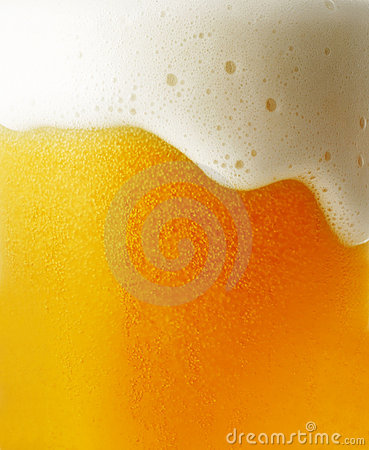Closeup of beer