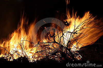 Closeup of an Bonfire