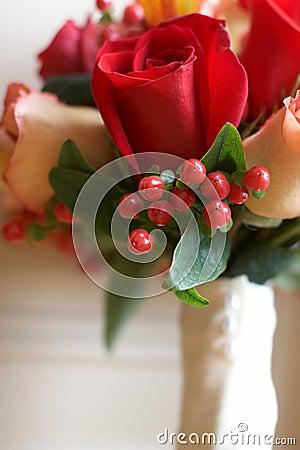 Closeup Of Bridal Wedding Bouquet