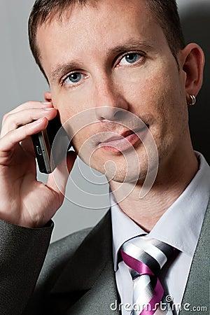 Closeup businessman with phone