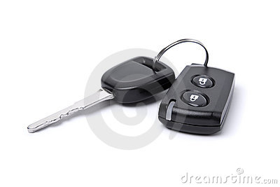 Closeup of car key