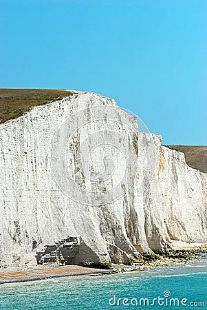 Free Closeup Chalk Cliff Seven Sisters England Royalty Free Stock Photos - 20567308