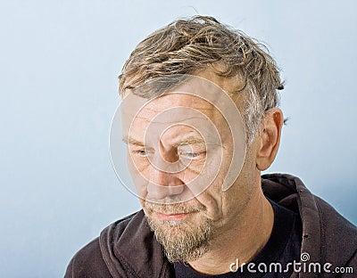 Closeup character portrait of a man
