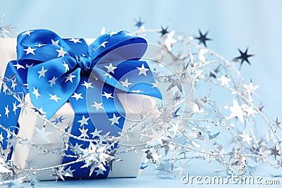 Closeup of Christmas gift