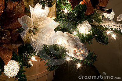 Closeup of Christmas Tree Decor Oyster Shell