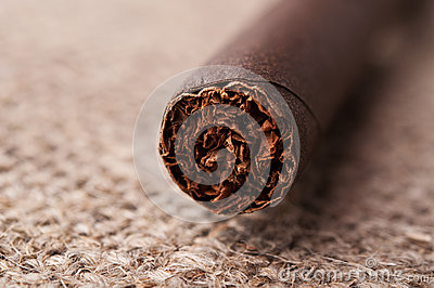 Closeup of cigar