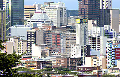 Closeup City Scape of Central Durban South Africa