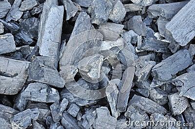 Closeup of coal lumps
