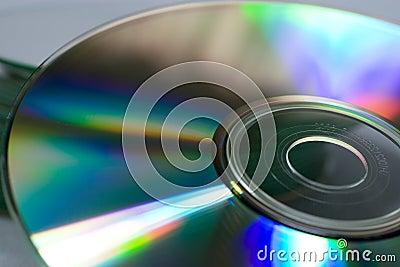 Closeup of a compact disc
