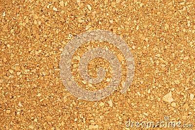 Closeup of a cork board