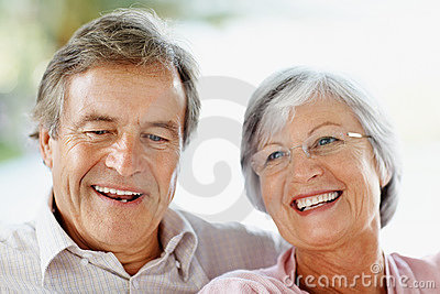 Closeup of a couple against bright background
