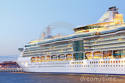 Closeup Cruise Ship