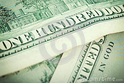 Closeup dollar bills