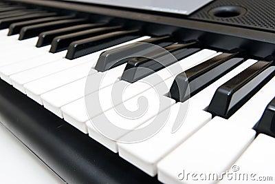 Closeup of Electronic Piano