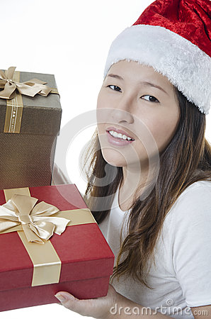 Closeup of excited woman