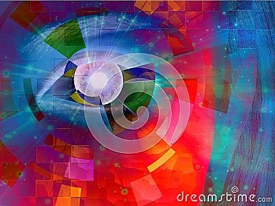 Closeup of eye abstract