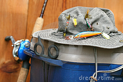 fishing tackle box stock photo - image: 13906080, Fishing Reels