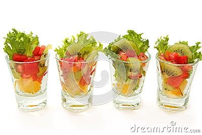 Closeup Fresh fruit salad