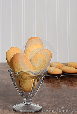 Free Closeup Giant Lady Finger Cookies In A Dish Royalty Free Stock Photo - 34548285
