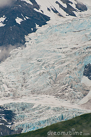 Closeup of glacier texture