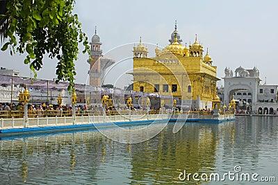 Closeup of Golden Temple Amritsar Punjab India Editorial Photography