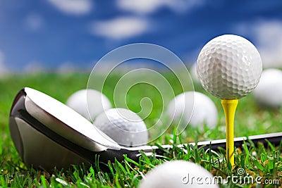 Closeup of golf ball and bat!