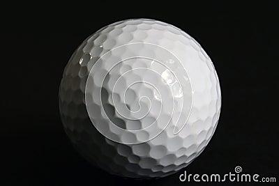 Closeup Golf Ball on Black