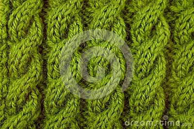 Closeup Of Green Cable Knitting Stitch Stock Photography CartoonDealer.com ...