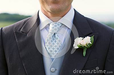Closeup Of A Groom