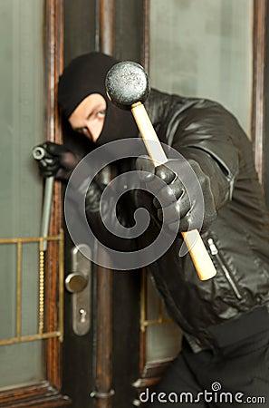 Closeup hammer and bandit
