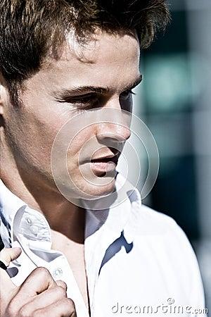 Closeup Of A Handsome Man