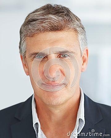 Closeup of a handsome mature business man