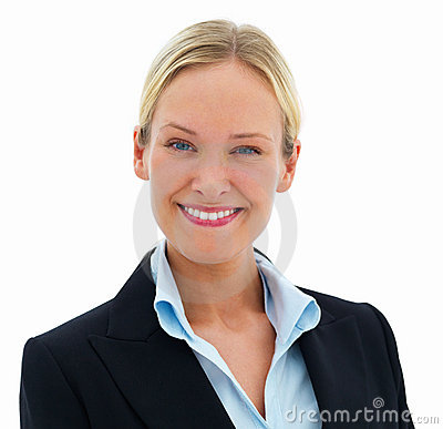 Closeup Of A Happy Smiling Business Woman Isolated Stock Images - Image: 6352664