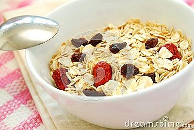 Closeup of healthy oatmeal