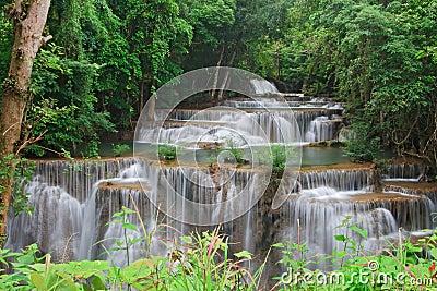 Closeup Huay Mae Khamin Waterfall