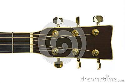 Closeup image of classical guitar tuners