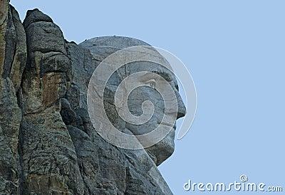 Closeup Image of George Washington at Mt Rushmore