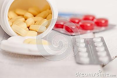 Closeup image of medicine pills