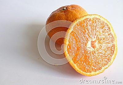 Closeup image of orange fruit