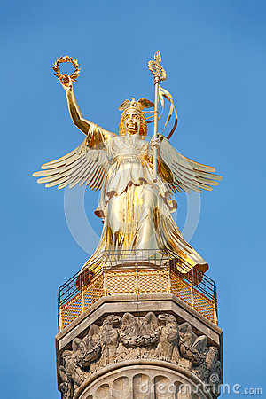 Closeup image of the Victory Column, Berlin
