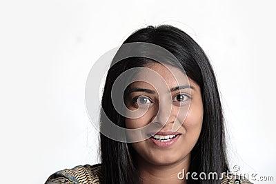 Closeup of Indian woman