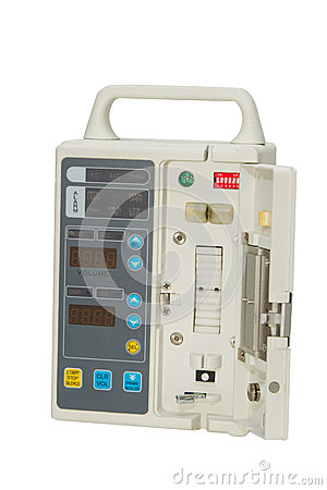 Closeup Infusion pump,isolate