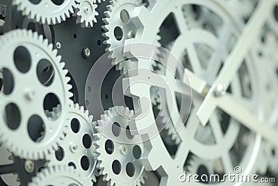 Closeup of inner clock gears