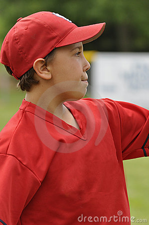 Closeup little league ball player