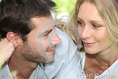 Closeup of loving couple